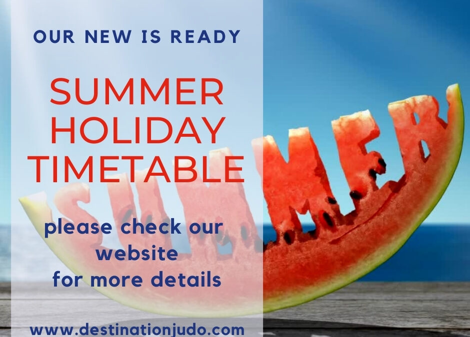 Summer Holiday Timetable